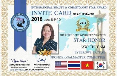 INTERNATIONAL HEALTHY & BEAUTY COSMETOLOGY CONTEST - STAR AWARD 2018