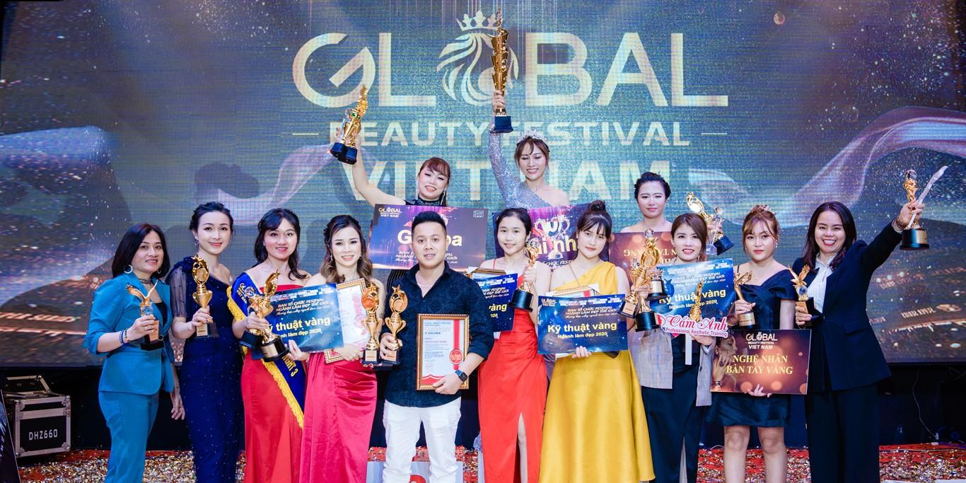 Trung tâm dạy nghề thẩm mỹ Cẩm Anh tại sự kiện Global Beauty Festival Viet Nam